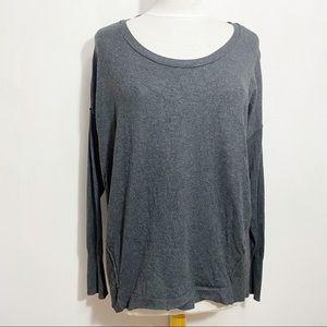LANE BRYANT exposed seam rib trim sweater 14/16